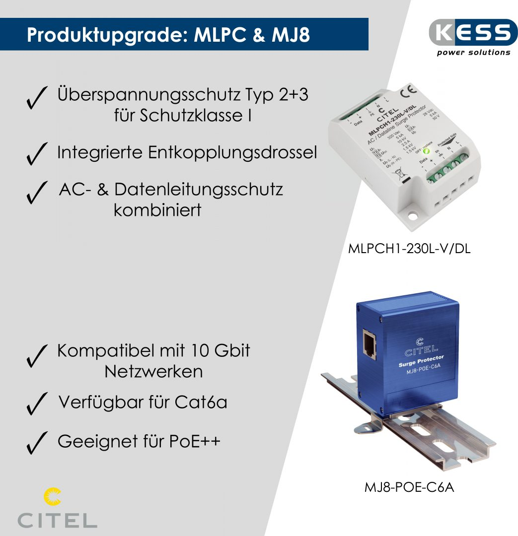 Produktupgrade MLPC & MJ8